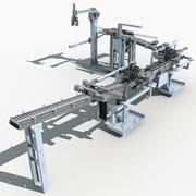 Linha de produção automática 3d model