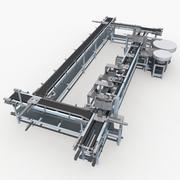 Automatic production line 3d model