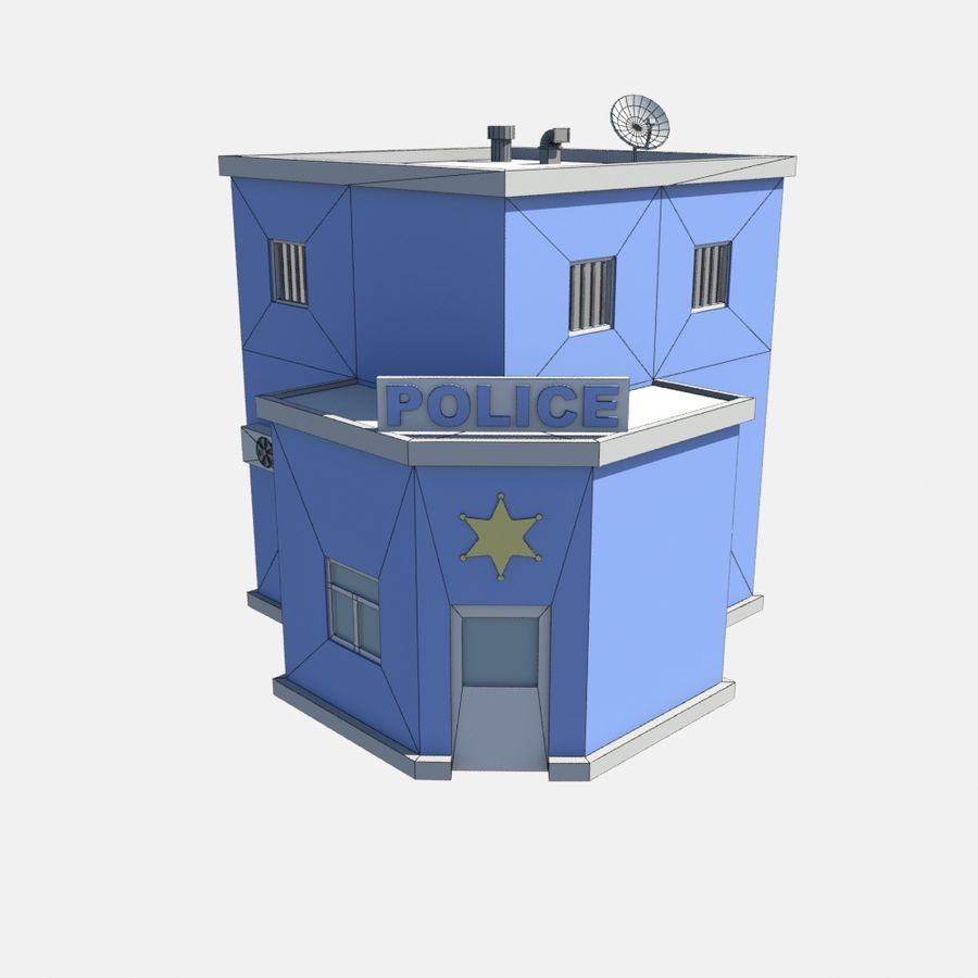 police low poly royalty-free 3d model - Preview no. 6