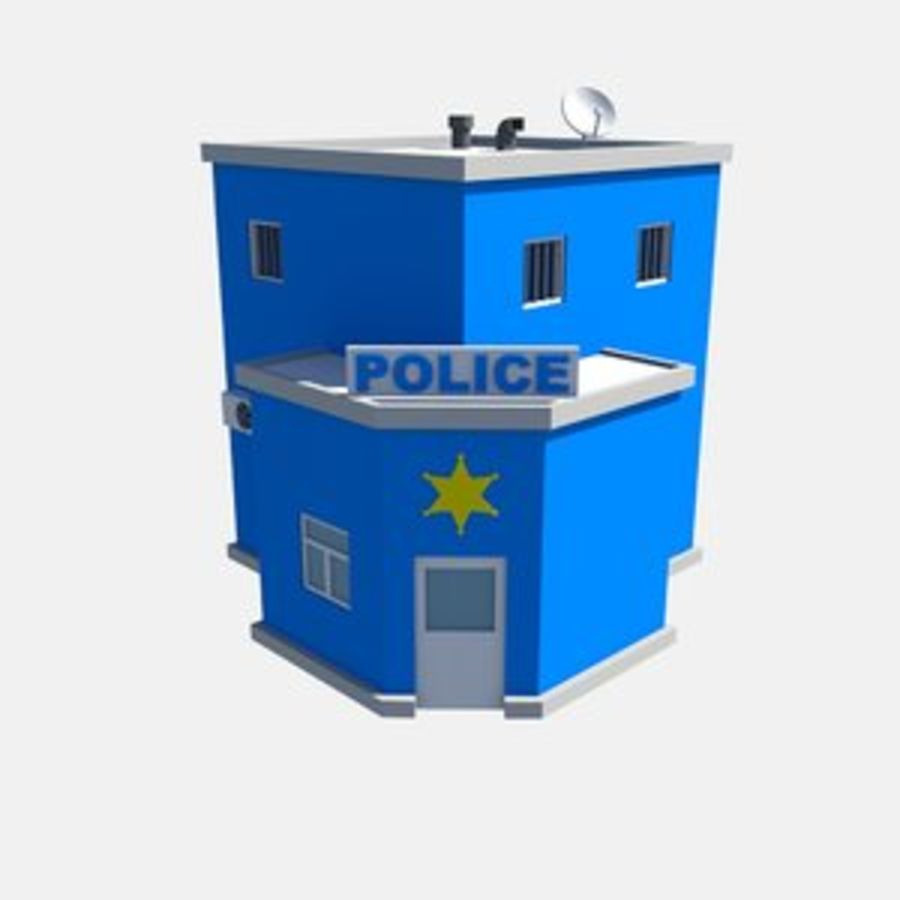 police low poly royalty-free 3d model - Preview no. 1