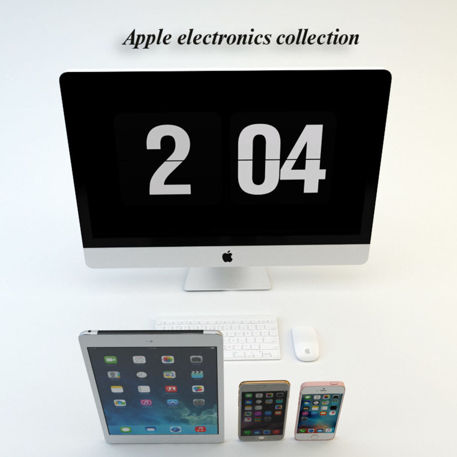 Apple electronics collection royalty-free 3d model - Preview no. 2