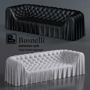 Busnelli工場のリビングルーム用ボヘミアンソファ 3d model