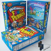Fruktig småsten marshmallow spannmål 3d model