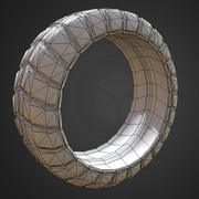 Futuristic Tire Low-Poly version 3d model