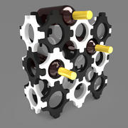 Şişeler için dekoratif stand 3d model