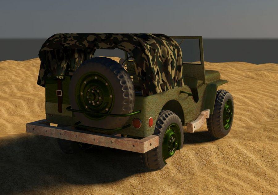 Militärjeep royalty-free 3d model - Preview no. 4