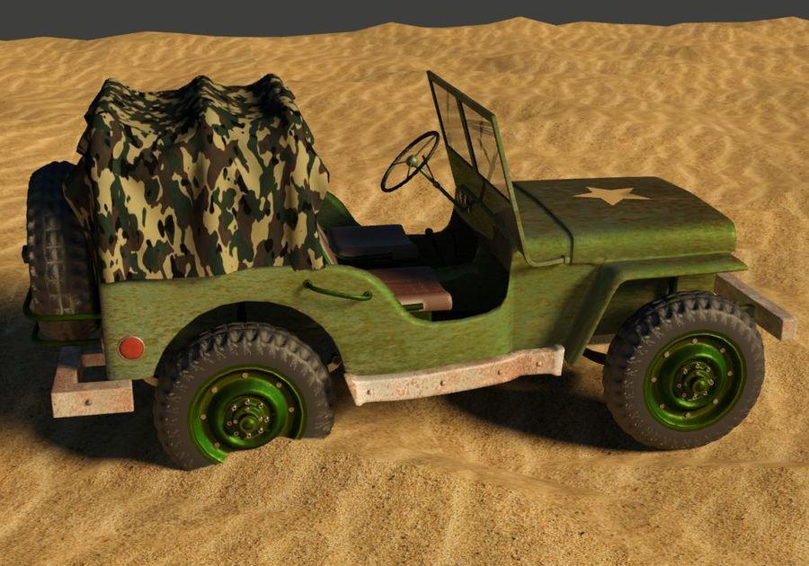 Militärjeep royalty-free 3d model - Preview no. 2