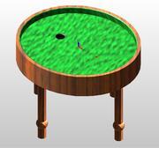 Döngü Masası / Eliptik bilardo masası 3d model