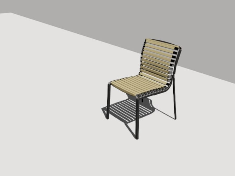 stoel tuin royalty-free 3d model - Preview no. 1