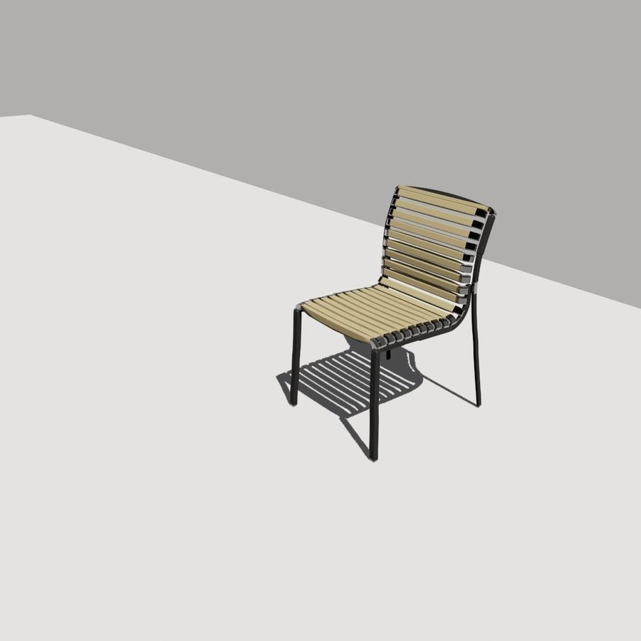 stoel tuin royalty-free 3d model - Preview no. 2