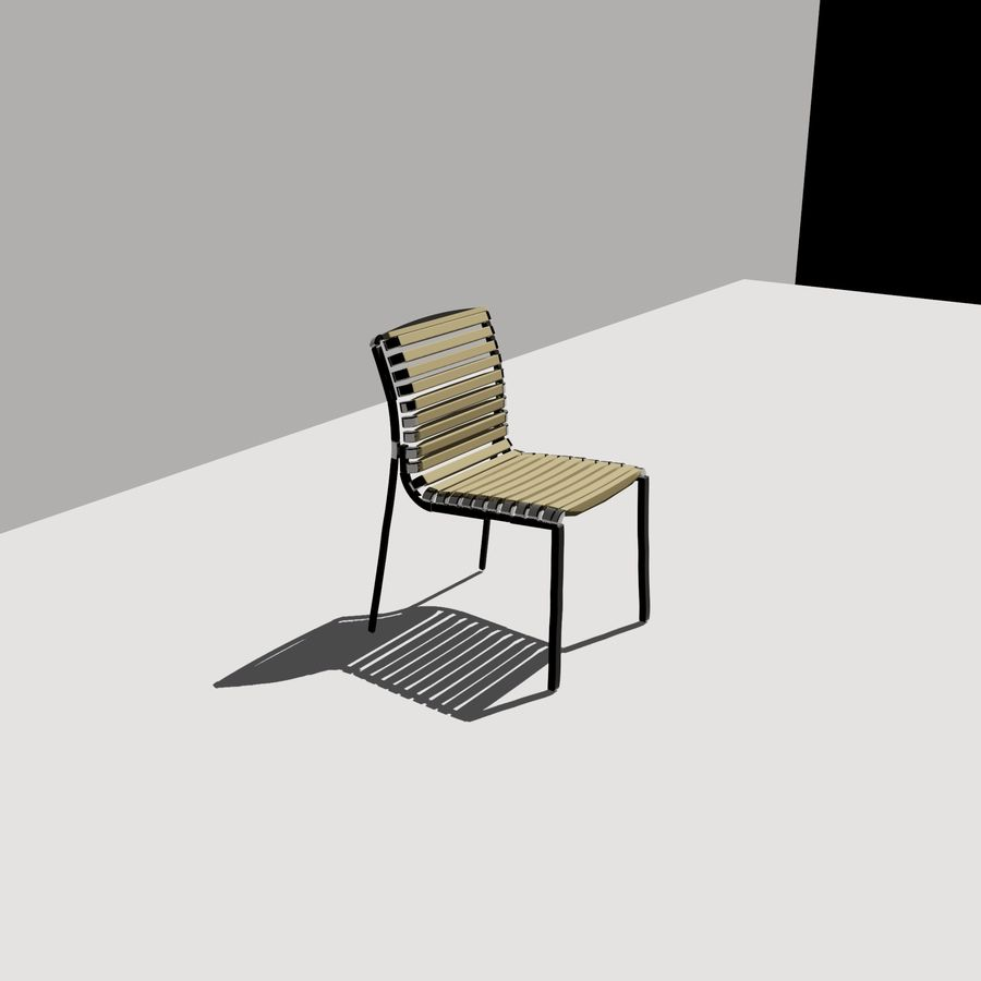 stoel tuin royalty-free 3d model - Preview no. 3