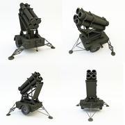 Lanzacohetes modelo 3d