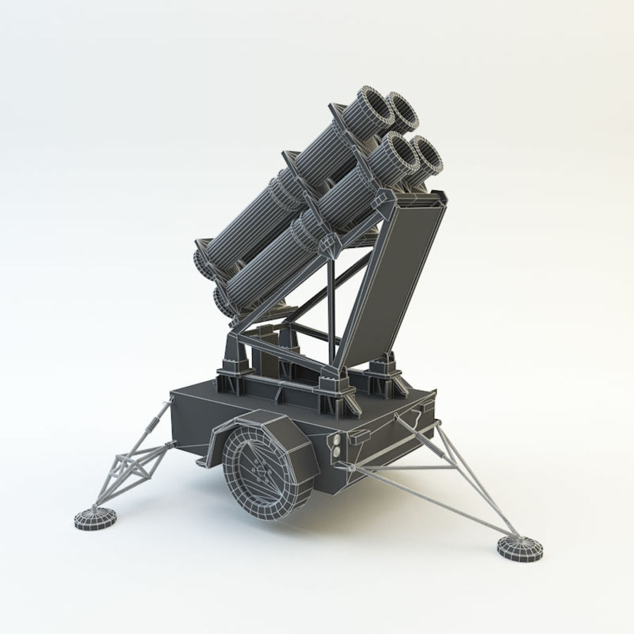 Lance-roquettes royalty-free 3d model - Preview no. 7