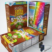 Lucky Charms choklad spannmål 3d model