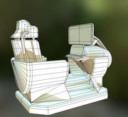 Futuristic control module Low-Poly 3d model