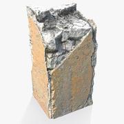 Złamany betonowy filar 3d model