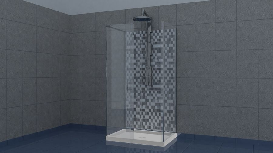 Dusche royalty-free 3d model - Preview no. 2