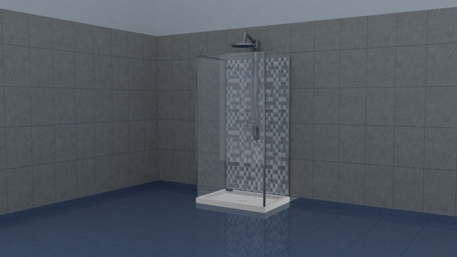Dusche royalty-free 3d model - Preview no. 1