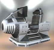 Futurystyczna kontrola sterowania Wersja podstawowa 3d model