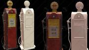 Petrol pump machine 3d model
