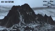 monte de neve 3d model