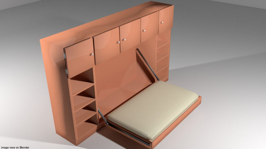 Letto - Murphy Bed royalty-free 3d model - Preview no. 1