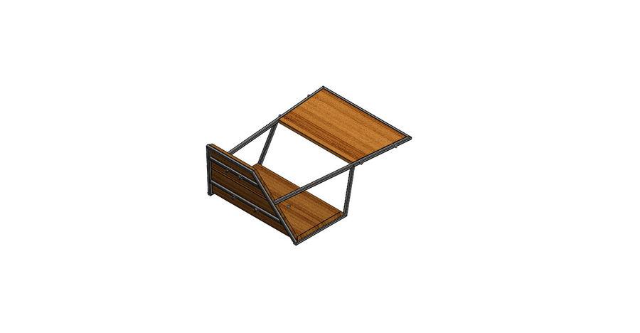 Silla futurista con muebles de mesa royalty-free modelo 3d - Preview no. 3