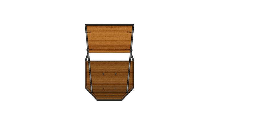 Silla futurista con muebles de mesa royalty-free modelo 3d - Preview no. 5