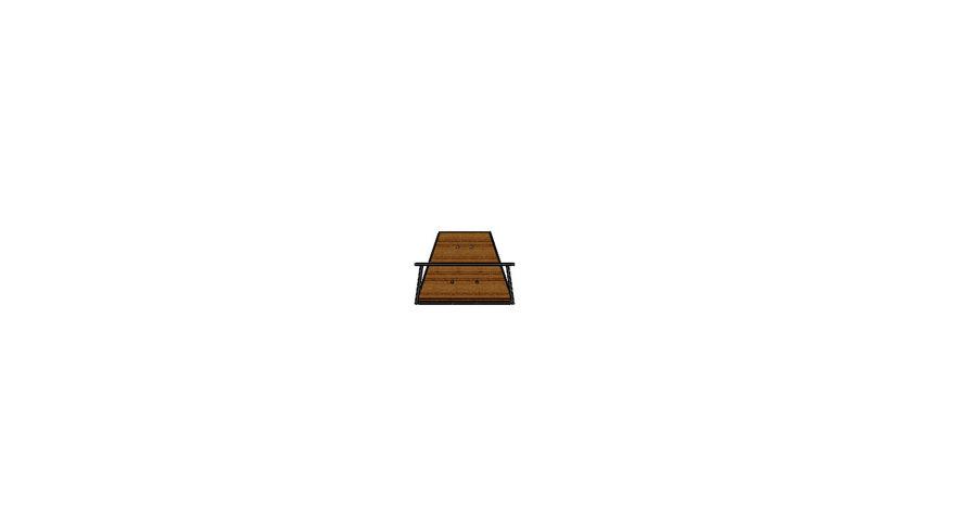Silla futurista con muebles de mesa royalty-free modelo 3d - Preview no. 7