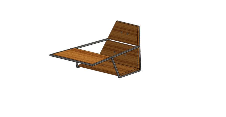 Silla futurista con muebles de mesa royalty-free modelo 3d - Preview no. 4
