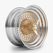 100辐钢丝轮辋 3d model