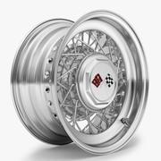 钢丝轮辋 3d model
