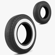 轮胎美国经典 3d model