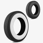 轮胎加菲猫之字形 3d model