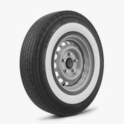 钢轮和轮胎美国经典 3d model