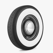 钢轮和轮胎加菲猫 3d model