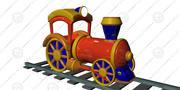 玩具机车 3d model