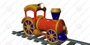oyuncak lokomotif 3d model
