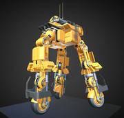 Futuristic Trike High Poly Version 5 3d model