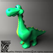 Cartoon Dinosaurier 3d model