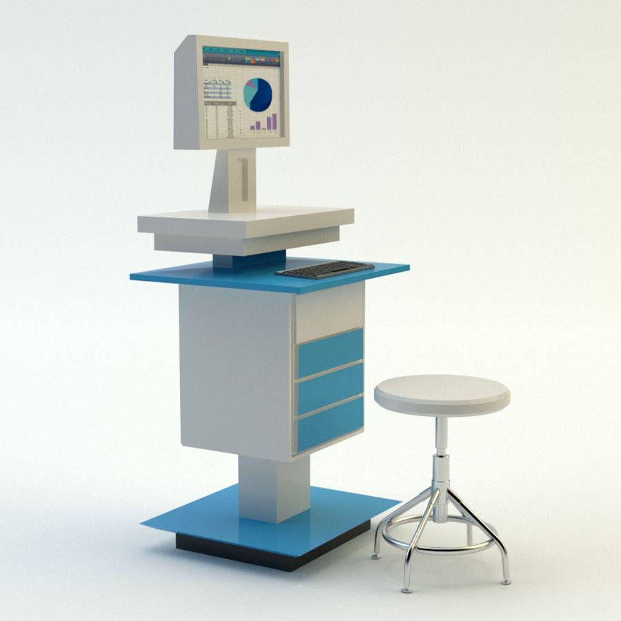 Lab equipment royalty-free 3d model - Preview no. 4