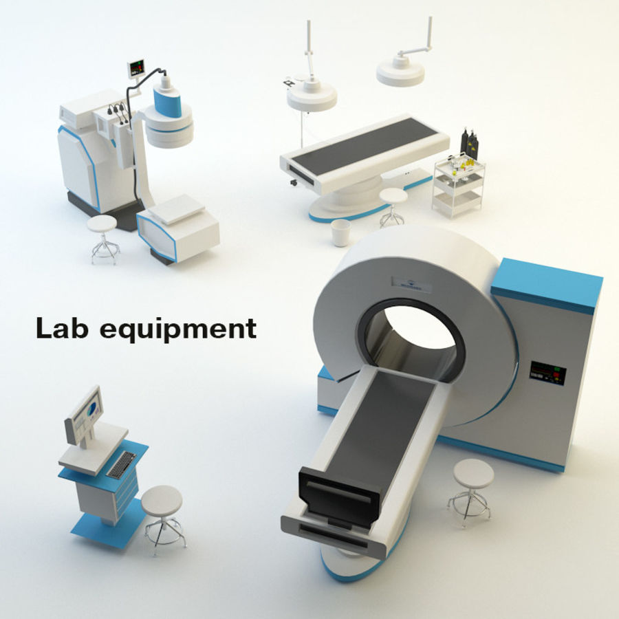Lab equipment royalty-free 3d model - Preview no. 1