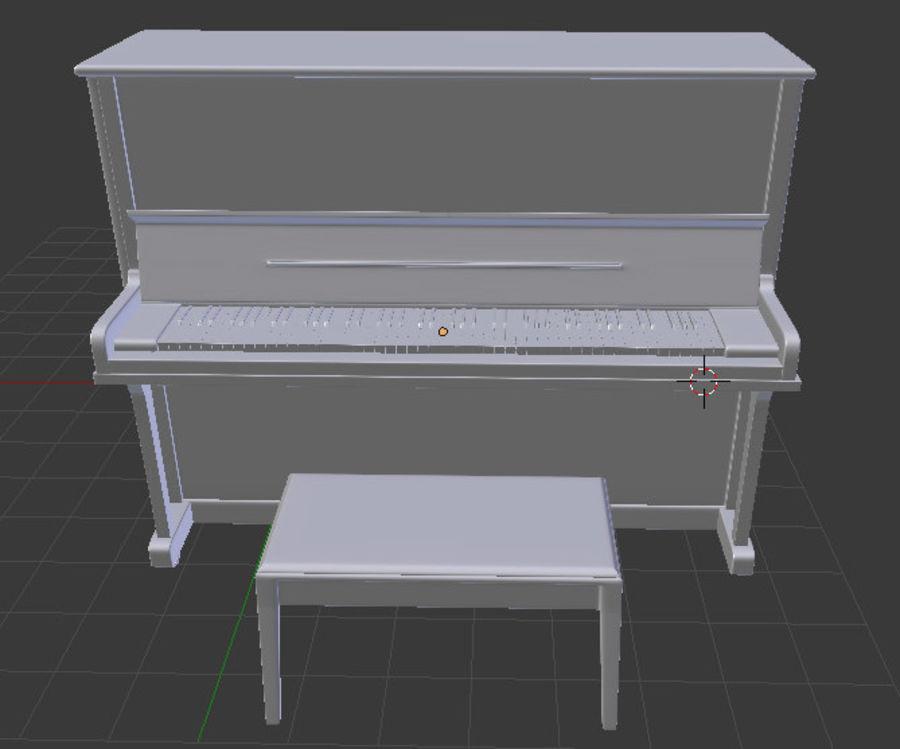 钢琴曲 royalty-free 3d model - Preview no. 6