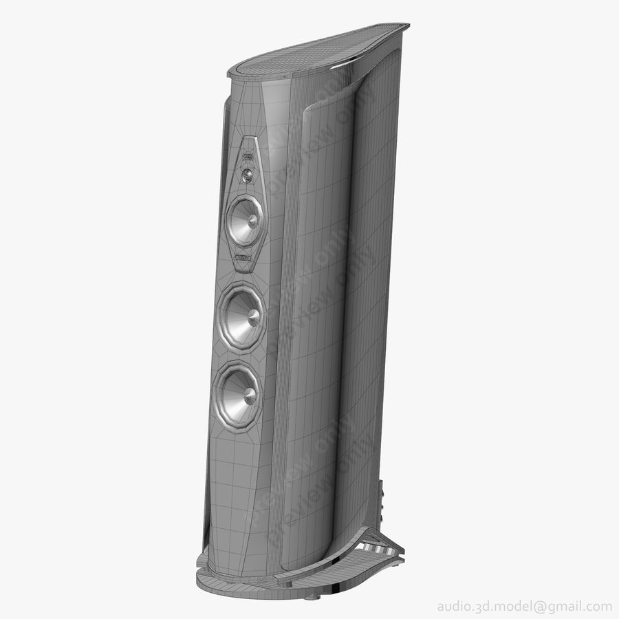 Сонус фабер аида белый royalty-free 3d model - Preview no. 14