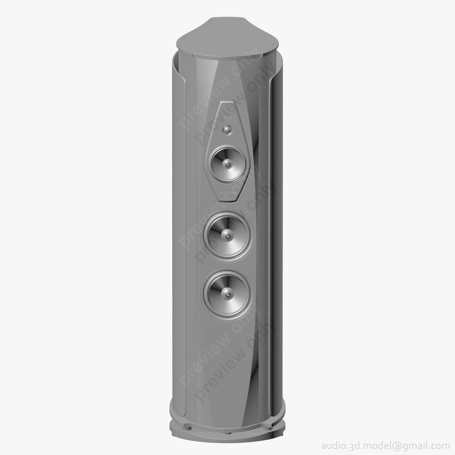 Сонус фабер аида белый royalty-free 3d model - Preview no. 9