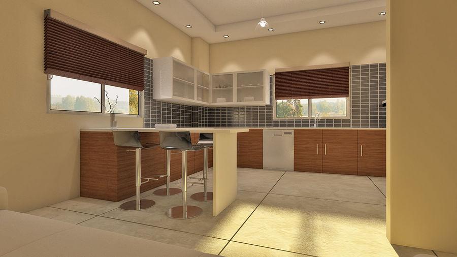キッチン3Dモデル royalty-free 3d model - Preview no. 2