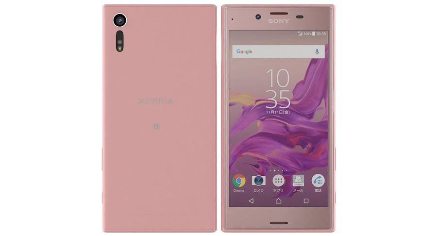 Sony Xperia XZ Deep pink (1) royalty-free 3d model - Preview no. 5
