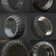 Futuristic Tire Collection 3d model