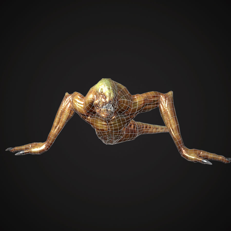 Creature Creepy royalty-free 3d model - Preview no. 4