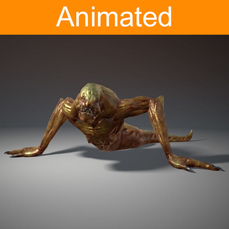 Creature Creepy royalty-free 3d model - Preview no. 1